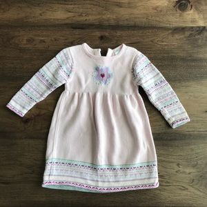 Hanna Andersson size 90 pink sweater dress